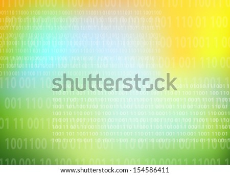 Technology background vector with numbers - stock vector