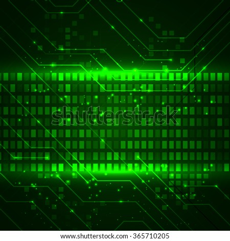 Technology background with circuit boards elements. Vector illustration for your business presentations.