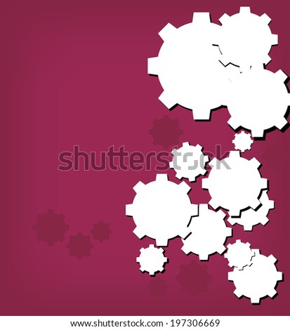 Technology background with gear wheel. Vector background.