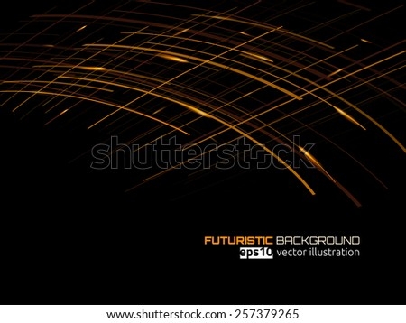 Technology background with lines. Vector illustration. - stock vector