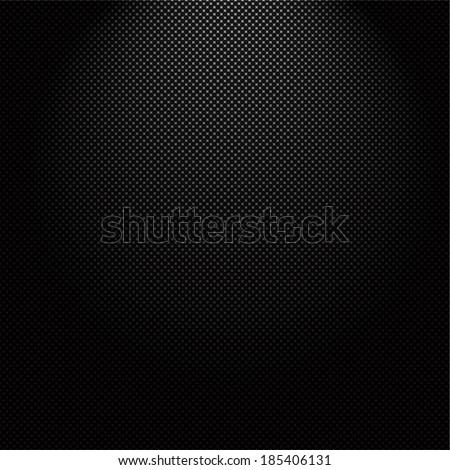 Technology background with seamless circle perforated carbon speaker grill texture for internet sites, web user interfaces (ui) and applications (apps). Vector Pattern - stock vector