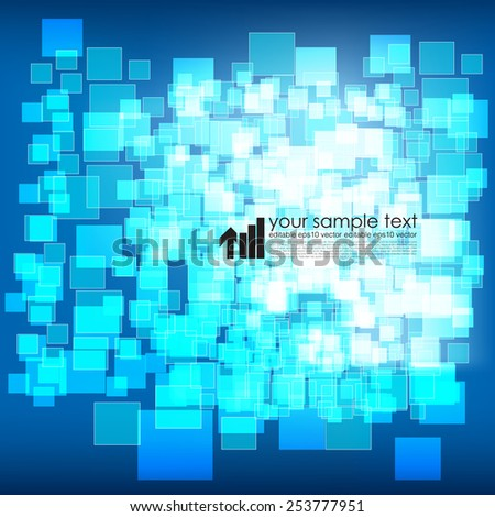 Technology Background With Squares - stock vector