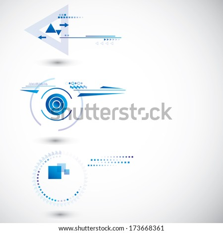 Technology banners - stock vector