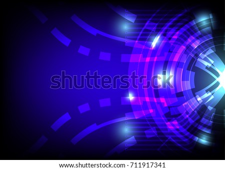 technology blue abstract background, circle technology concept.