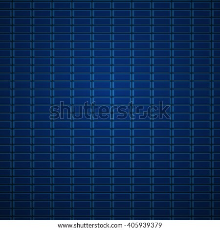Technology blue background with square repeat objects. Abstract background stylish blue, vector. Abstract background with lots of rectangular cells. Technology abstract background for web or print. - stock vector