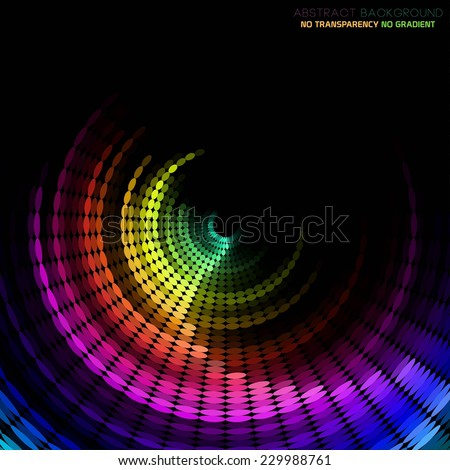 Technology concept abstract colorful background - stock vector