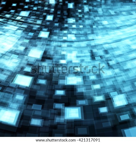 Technology concept abstract shiny blue futuristic perspective background. - stock vector