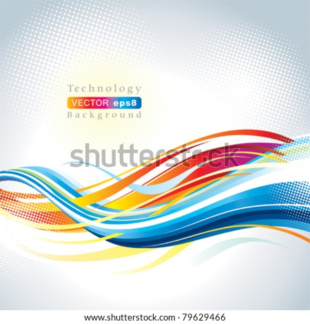 Technology connection background of Hot and Cold Mix. - stock vector