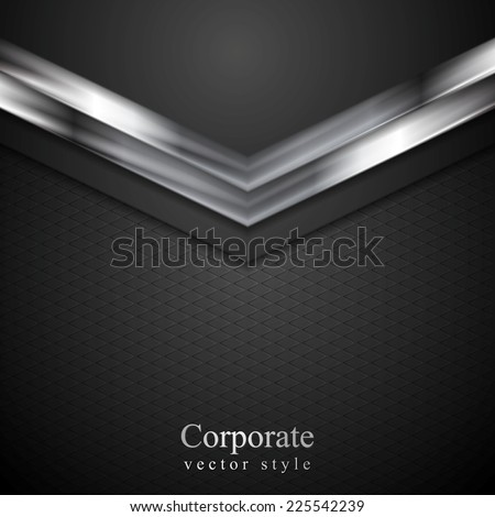 Technology corporate background with metal arrows. Vector illustration - stock vector