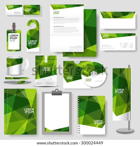 Technology corporate identity template Stationery design set in vector format - stock vector