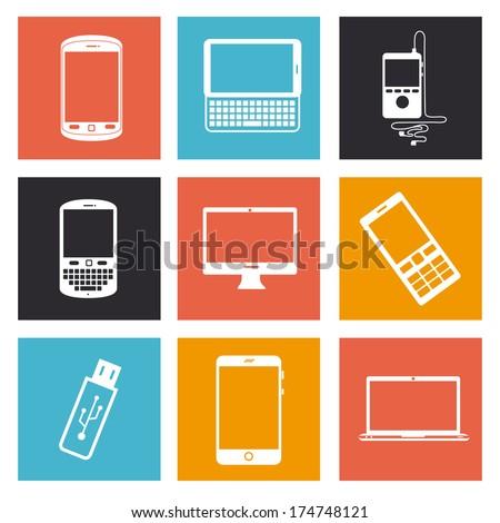 technology design over white  background vector illustration - stock vector