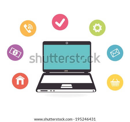 Technology design over white background,vector illustration