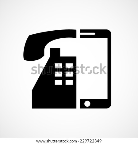 technology evolution, old versus new, phone vector icon - stock vector