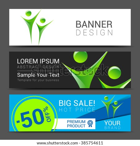 technology for Cover Report Annual Brochure Flyer Poster Business cards collection, people crowd design. - stock vector
