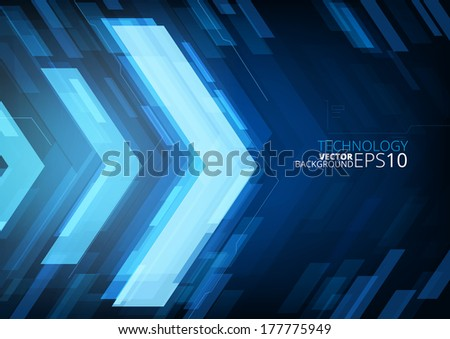 Technology future arrows abstract vector background, with copy space - stock vector