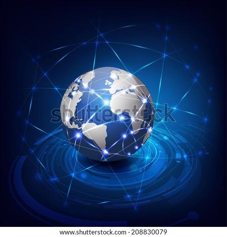 Technology futuristic communication mesh background, Vector illustration - stock vector