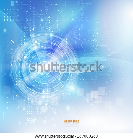 Technology futuristic digital background, Vector illustration - stock vector