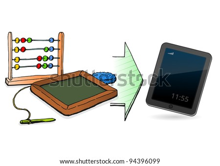 Technology Genesis - stock vector