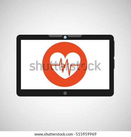 technology heart medical social media design vector ilustration eps 10