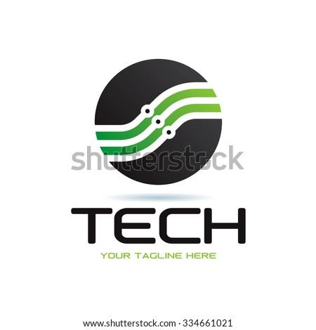 Technology Icon Vector Logo Template - stock vector