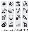 technology icons - stock photo