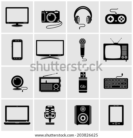 Technology Icons - stock vector