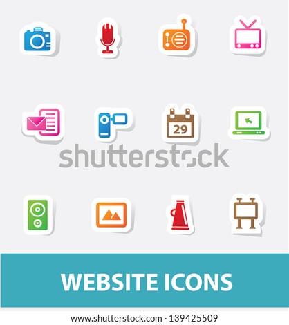 Technology icons,vector - stock vector