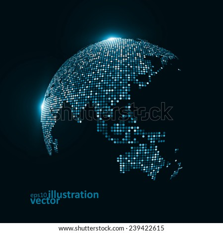 Technology image of globe. The concept vector illustration eps10