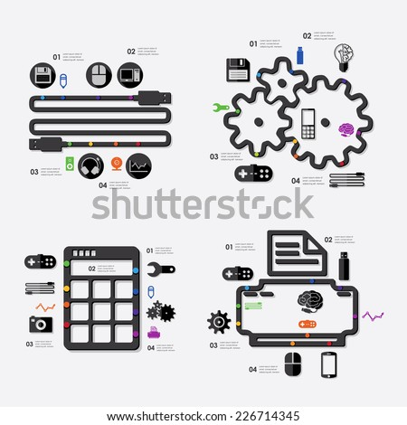 technology infographic - stock vector