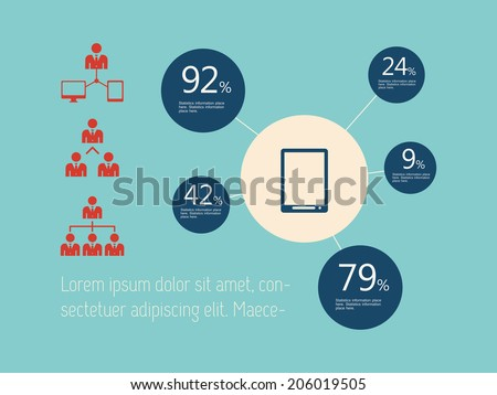 Technology Infographic Element - stock vector