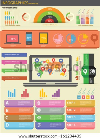 Technology Infographics and Elements,vector - stock vector