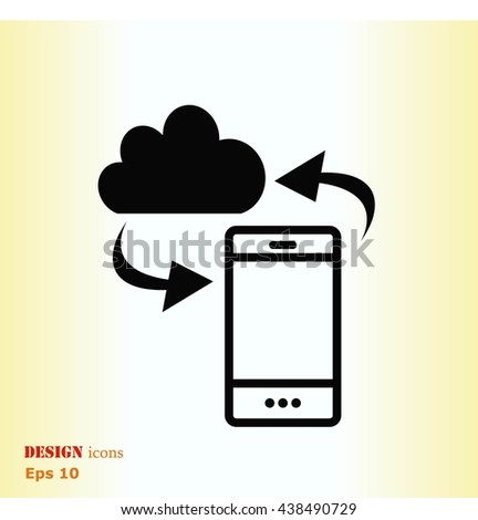 Technology innovation icon. Cloud technology, vector illustration.