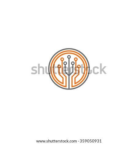 Technology Logo template - stock vector