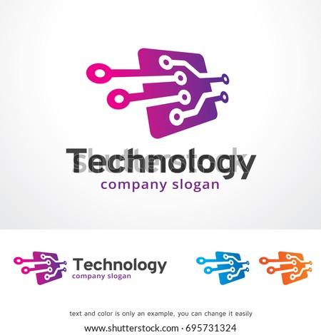 Technology Logo Template Design Vector Emblem Stock Vector Royalty