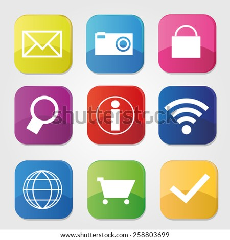 technology mobile comuter laptop app wifi wireless application - stock vector