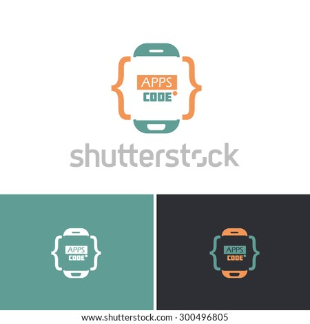 Technology Mobile Phone Concept Vector Icons, Logos, Sign, Symbol Template  - stock vector