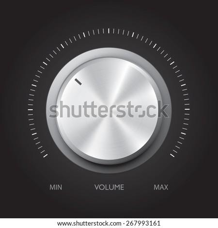 Technology music button, Vector - stock vector