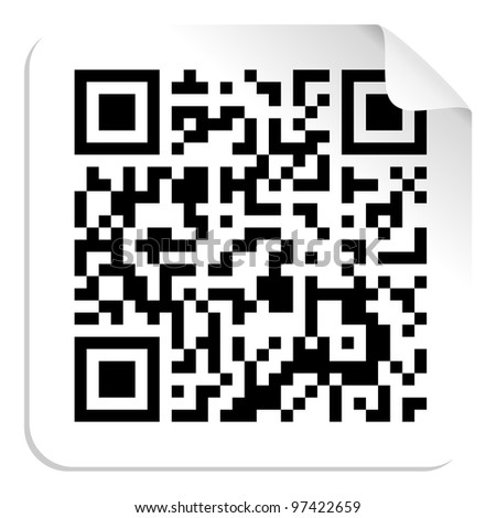 Technology QR code label concept. Vector file available. - stock vector