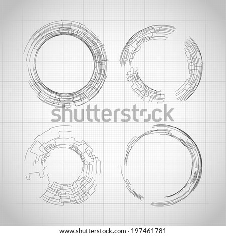 Technology round shapes. Vector eps10 - stock vector
