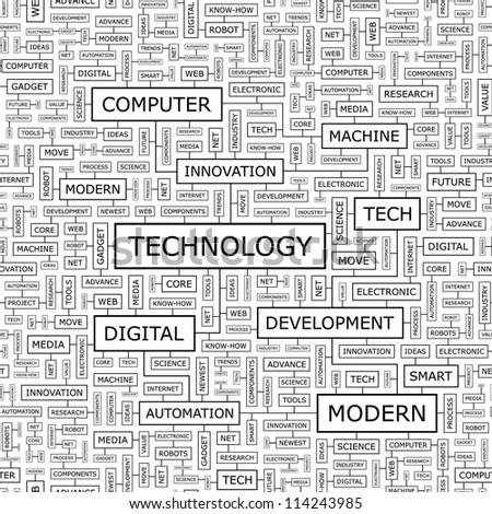 TECHNOLOGY. Seamless vector pattern. - stock vector