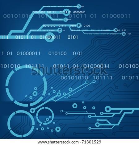technology theme vector background. EPS10 - stock vector