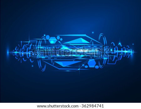 Technology transfer big data hi speed futuristic future interface background connection vector - stock vector