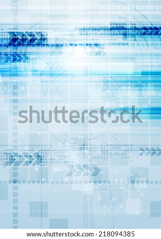 Technology vector background with arrows - stock vector