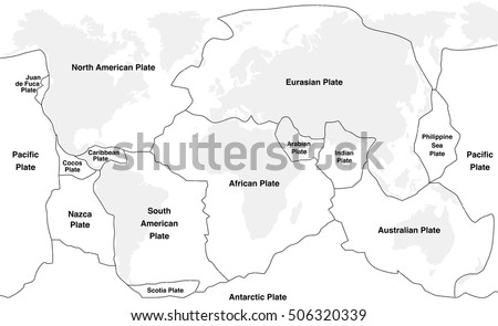 West central africa countries political map vectores en stock tectonic plates tectonic plates with names world map with fault lines of major an minor gumiabroncs Images