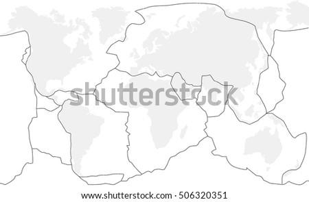 Faultline Stock Images RoyaltyFree Images Vectors Shutterstock - Fault line world map