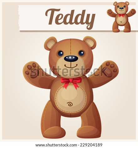 Teddy bear love hugs. Cartoon vector illustration.  - stock vector