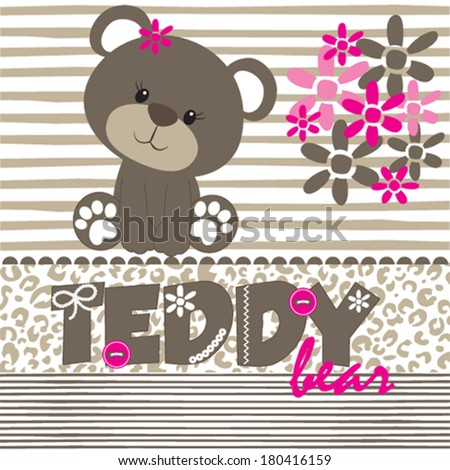 teddy bear vector illustration - stock vector