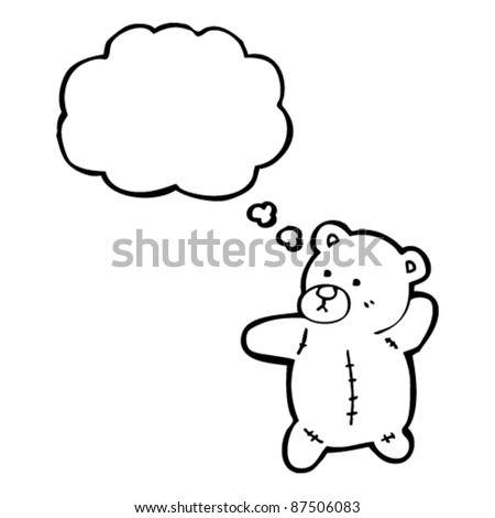 teddy bear with thought bubble cartoon