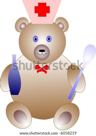 Teddy-doctor - stock vector