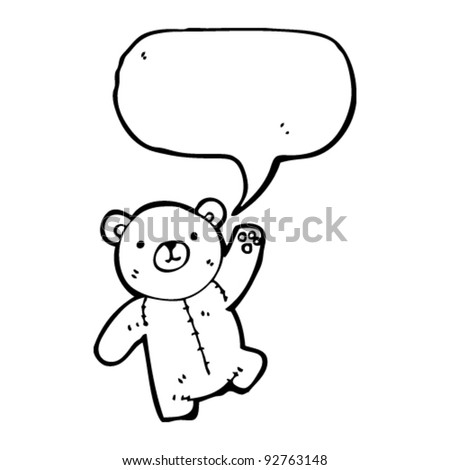 teddy with speech bubble